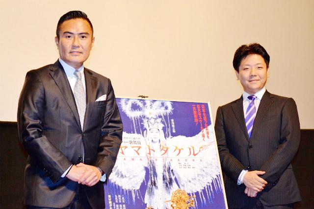 「シネマ歌舞伎 ヤマトタケル」に出演する市川右近と弘太郎