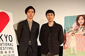 舞台挨拶に登壇した山崎賢人と熊澤尚人監督「ジンクス!!!」