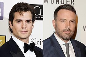 スーパーマン役のヘンリー・カビルとバットマン役のベン・アフレック「マン・オブ・スティール」
