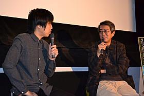 トークショーを行った 荒井晴彦と向井康介「共喰い」