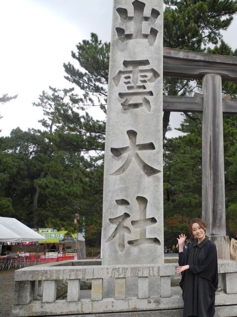 清水くるみ、「ジンクス!!!」ひっさげ出雲大社でヒット&恋愛祈願!