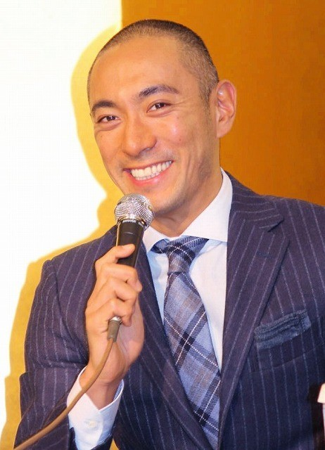 海老蔵、14年熊本公演で長女初披露 くまモンも駆けつける?