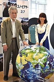(左より)映画が描く壮絶な未来を真剣に受け止めた 大宮信光氏と福田萌「スノーピアサー」