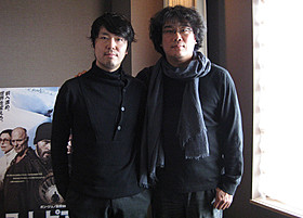 対談したポン・ジュノ監督と川村元気氏「寄生獣」