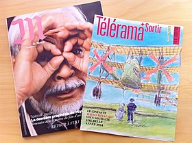 全国紙ル・モンドの付録雑誌MとTV週刊誌テレラマ「風立ちぬ」