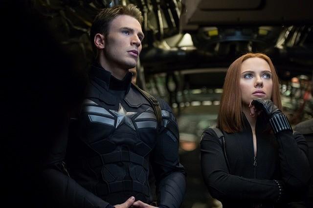 「キャプテン・アメリカ ウィンター・ソルジャー」の一場面