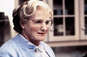 ロビン・ウィリアムズが家政婦に変装するコメディ「ミセス・ダウト」