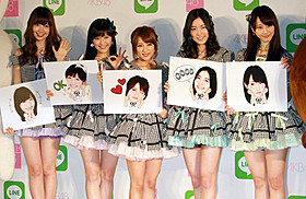 AKB48がLINEスタンプに!「LINE」