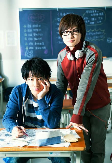 「バクマン。」に主演する 佐藤健と神木隆之介