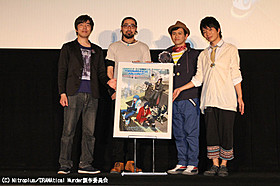 左より松田健一郎、竹内良太、私市淳、中澤まさとも