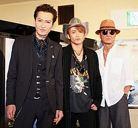「鷲と鷹」が公開された大澤樹生監督と 出演の諸星和己、小沢仁志「鷲と鷹」