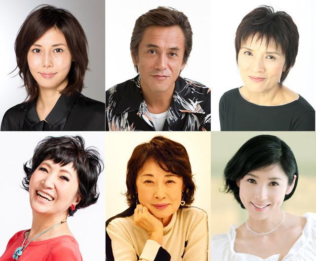 「思い出のマーニー」に声優出演する(左上から時計回りに) 松嶋菜々子、寺島進、根岸季衣、黒木瞳、吉行和子、森山良子