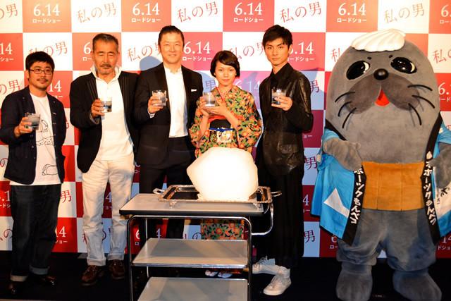 (左から)熊切和嘉監督、藤竜也、浅野忠信、二階堂ふみ、高良健吾