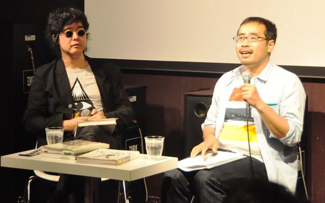 興味深い解説で会場をわかせた柳下氏(左)と原氏(右)
