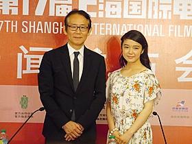第17回上海国際映画祭での上映に際し会見と 舞台挨拶を行った周防正行監督と上白石萌音「舞妓はレディ」