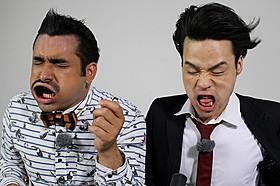 顔面で暴風を受け止めるデニスの2人(左から植野、松下)「イントゥ・ザ・ストーム」