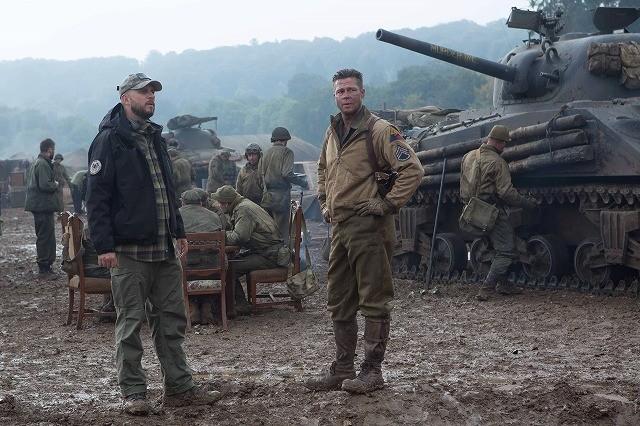 ブラッド・ピット主演「フューリー」本物の戦車を使用した撮影現場の写真が公開!