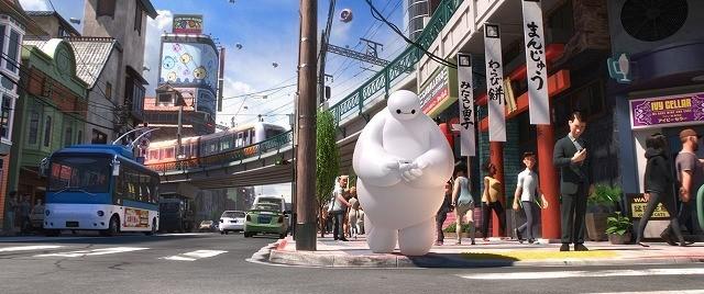 「ベイマックス」、サンフランシスコと東京を融合した街の場面写真が初公開!