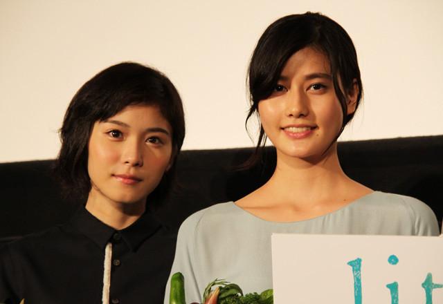 橋本愛&松岡茉優「リトル・フォレスト」初日でさわやか笑顔