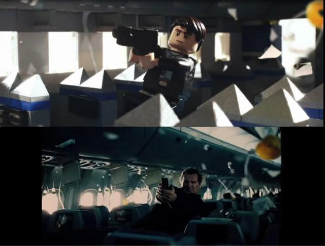 リーアム・ニーソンがLEGOに!?「フライト・ゲーム」比較映像を入手!