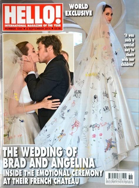 アンジェリーナ・ジョリーのウエディングドレス姿が英誌でお披露目!