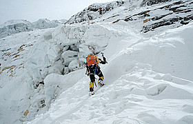 「アンナプルナ南壁 7,400mの男たち」の一場面