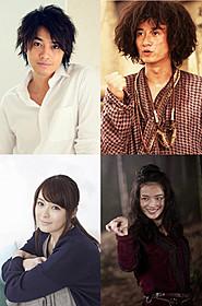 初の映画吹き替えに挑む斎藤(左上)と貫地谷(左下)「西遊記」