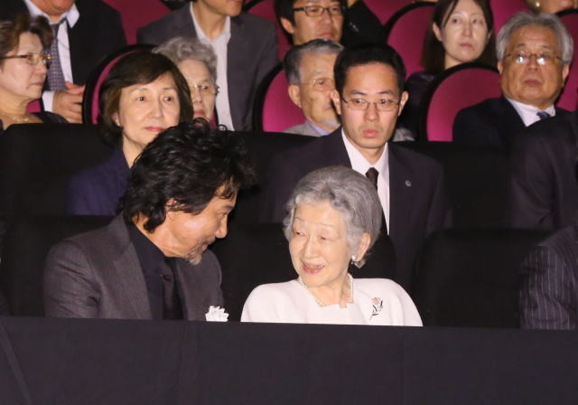 皇后陛下「蜩ノ記」ご高覧、役所広司&岡田准一は感激しきり