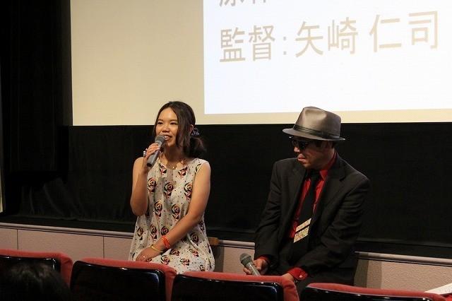 同郷の辻村深月氏(左)と矢崎仁司監督
