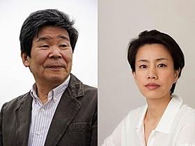 三鷹コミュニティシネマ映画祭に来場する高畑勲監督(左)と渡辺真起子「火垂るの墓(1988)」