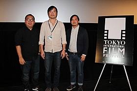現在のタイ映画界を担う(左から)ヨンユット・トンコントーン、 アーティット・アッサラット、リー・チャータメーティクン「ナンナーク」