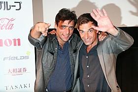 アドリアーノ・ジャンニーニ(左)、クラウディオ・ノーチェ監督「アイス・フォレスト」