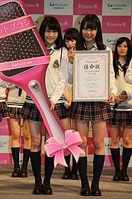 最新曲で初センター!NMB48矢倉楓子(左)と白間美瑠