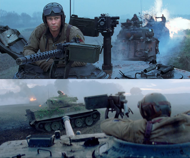 手に汗握る緊迫感!「ティーガー戦車VSフューリー号」一騎討ち映像が公開!