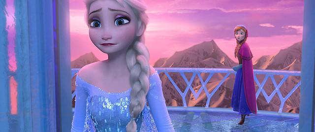 「アナと雪の女王」の一場面
