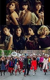 (上)Flowerのメンバー7人 (下)映画「ANNIE アニー」の一場面「ANNIE アニー」