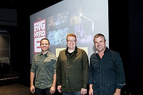 (左から)ネイサン・カーティス、マイケル・カショーク、 カイル・オダーマット「ベイマックス」