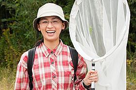 WOWOWのドラマ「十月十日の進化論」で 昆虫博士の主人公を演じる尾野真千子「箱入り息子の恋」