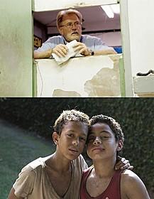 (上)アメリカ人神父を演じたマーティン・シーン (下)「トラッシュ! この街が輝く日まで」の一場面「リトル・ダンサー」