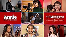 「Tomorrow」を歌う世界各国の歌い手たち「ANNIE アニー」