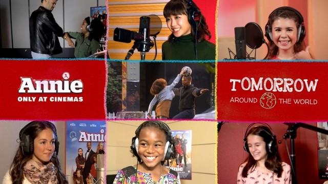 「アニー」主題歌「Tomorrow」を世界各国の歌い手がリレー形式で歌う映像公開