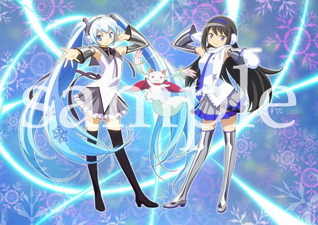 「まどか☆マギカ」と「雪ミク」が雪像とイラストでコラボレーション!