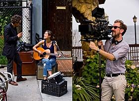 (左)「はじまりのうた」の一場面(右)ジョン・カーニー監督「はじまりのうた」