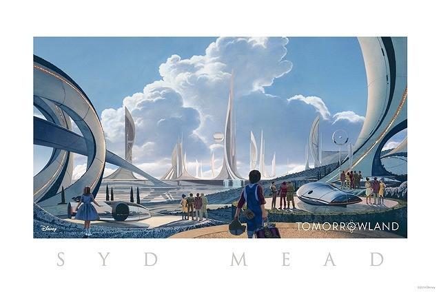 W・ディズニーが夢見た未来「トゥモローランド」のコンセプトアートがお披露目