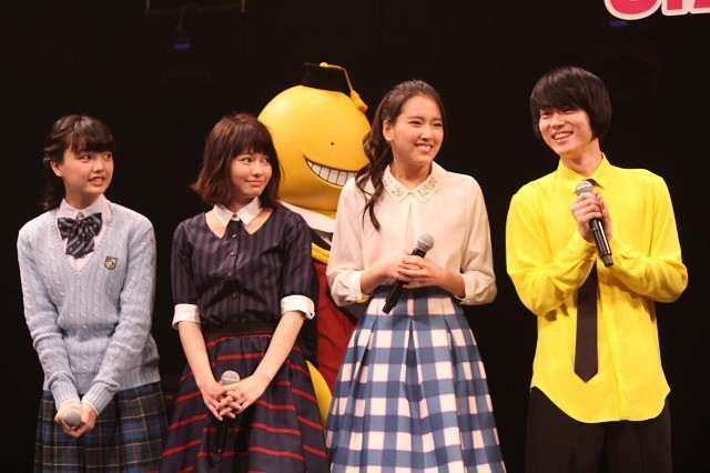 「暗殺教室」主演・山田涼介の姿に女子学生600人が大歓声!