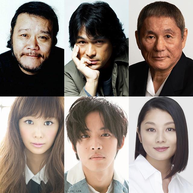 「人生の約束」に出演する(左上から時計回りで)西田敏行、 江口洋介、ビートたけし、優香、松坂桃李、小池栄子