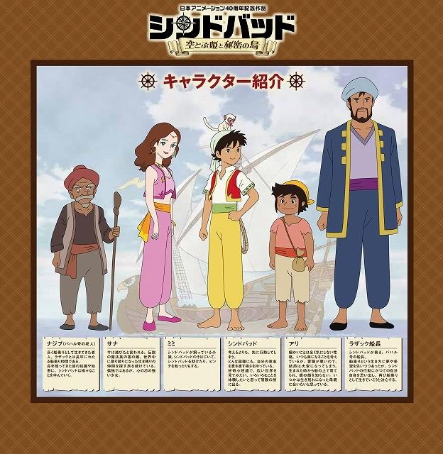 「世界名作劇場シリーズ」の日本アニメーション制作「シンドバッド」公開日決定