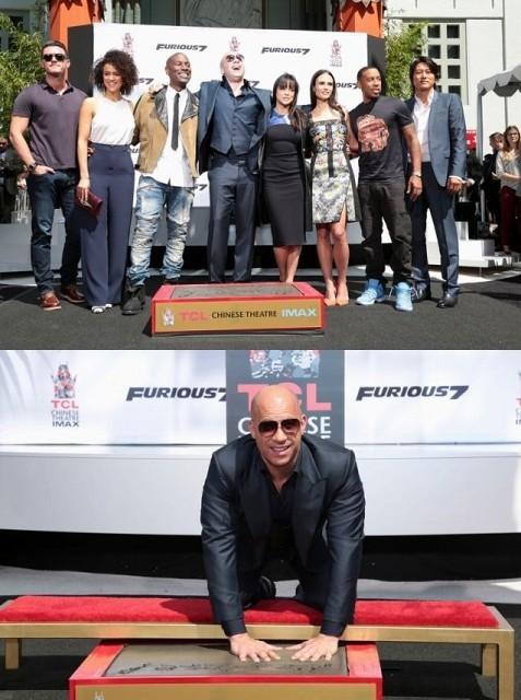 """「ワイルド・スピード」ビン・ディーゼル、ハリウッド""""282人目の手形&足型""""に大感激!"""