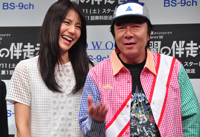 ダブル主演を務める松下奈緒と古田新太