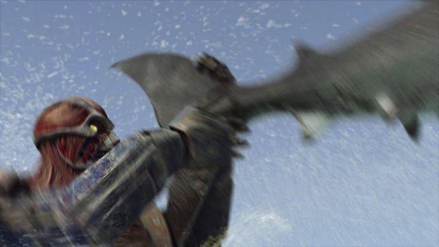 新生巨大サメと巨人の頂上決戦 「メガ・シャーク」新作、予測不能な予告入手